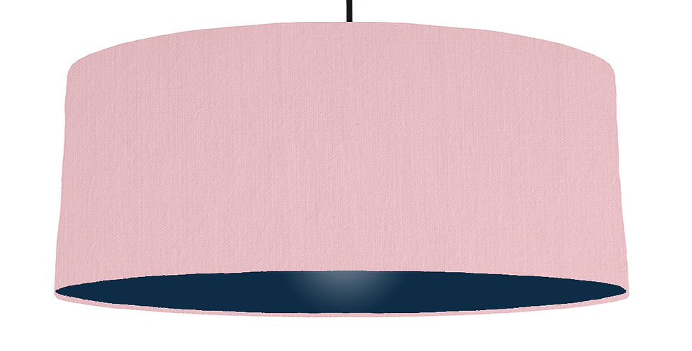 Pink & Navy Lampshade - 70cm Wide
