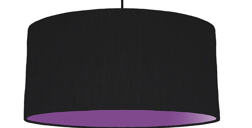 Black & Purple Lampshade - 60cm Wide