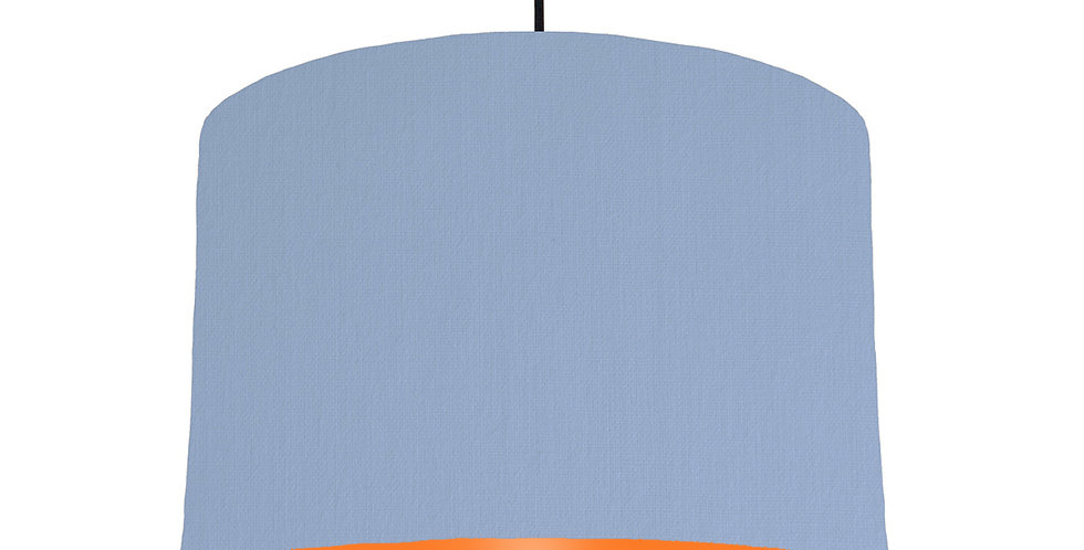 Sky Blue & Orange Lampshade - 30cm Wide