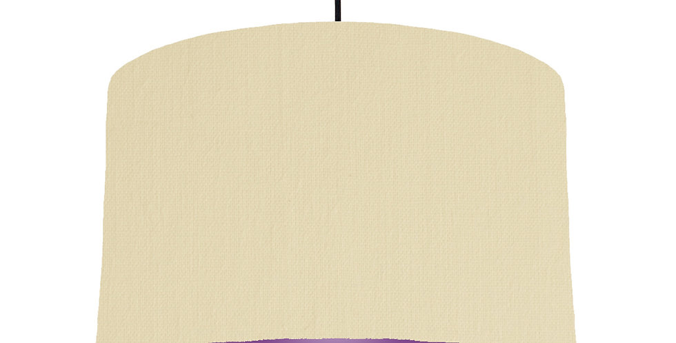 Natural & Purple Lampshade - 40cm Wide