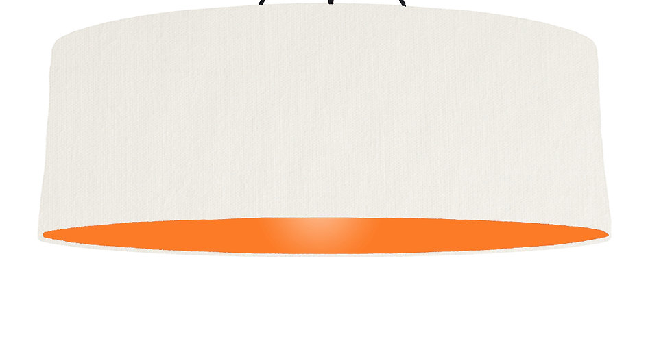 White & Orange Lampshade - 100cm Wide