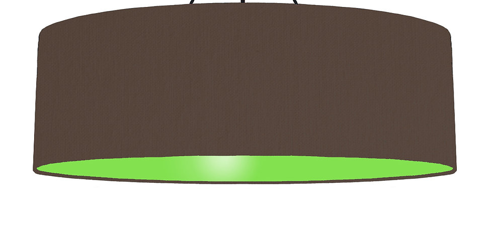 Brown & Lime Green Lampshade - 100cm Wide