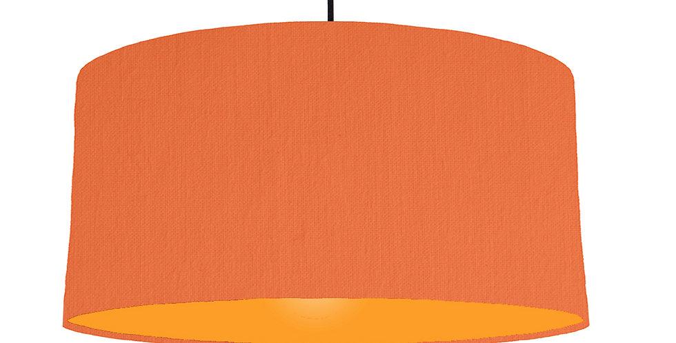Orange & Orange Lampshade - 60cm Wide