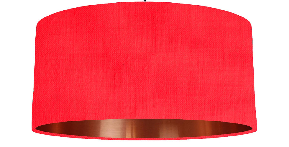 Neon Pink & Copper Mirrored Lampshade - 60cm Wide
