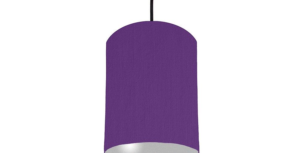 Violet & Silver Matt Lampshade - 15cm Wide