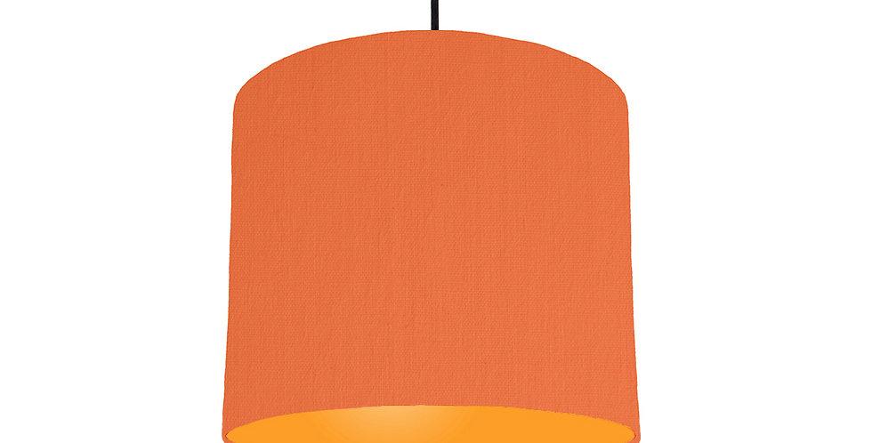Orange & Orange Lampshade - 25cm Wide