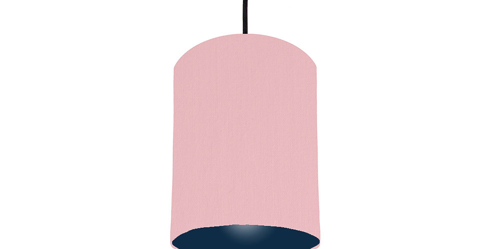Pink & Navy Lampshade - 15cm Wide