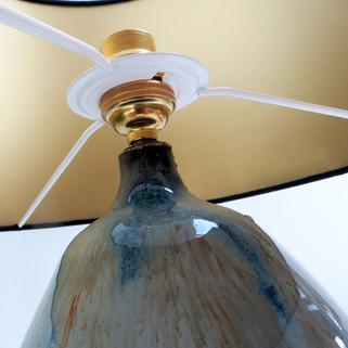 Ceramic pottery glaze lamp base