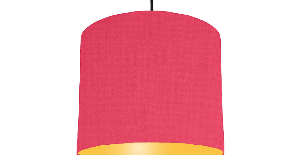 Cerise & Butter Yellow Lampshade - 25cm Wide