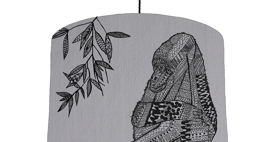 Gorilla Shade - Light Grey Fabric