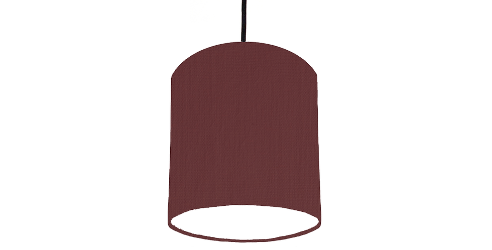 Wine & White Lampshade - 15cm Wide
