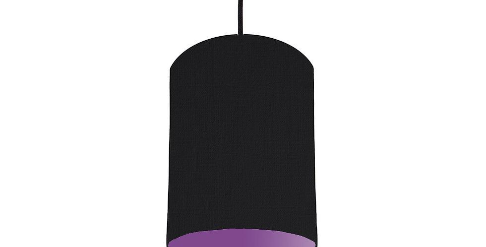 Black & Purple Lampshade - 15cm Wide