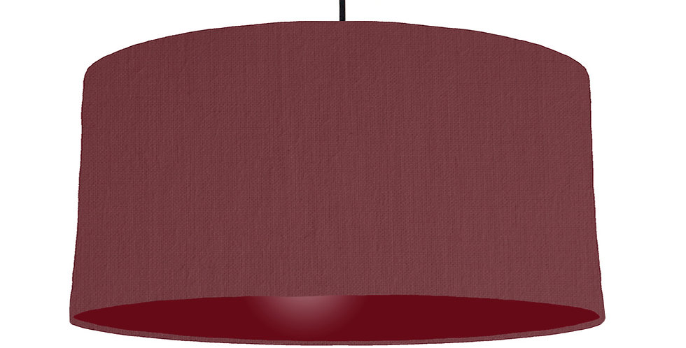 Wine Red & Burgundy Lampshade - 60cm Wide