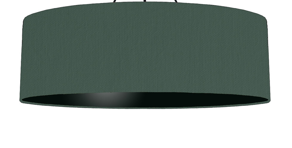 Bottle Green & Black Lampshade - 100cm Wide