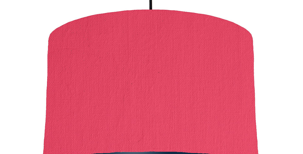 Cerise & Navy Lampshade - 40cm Wide