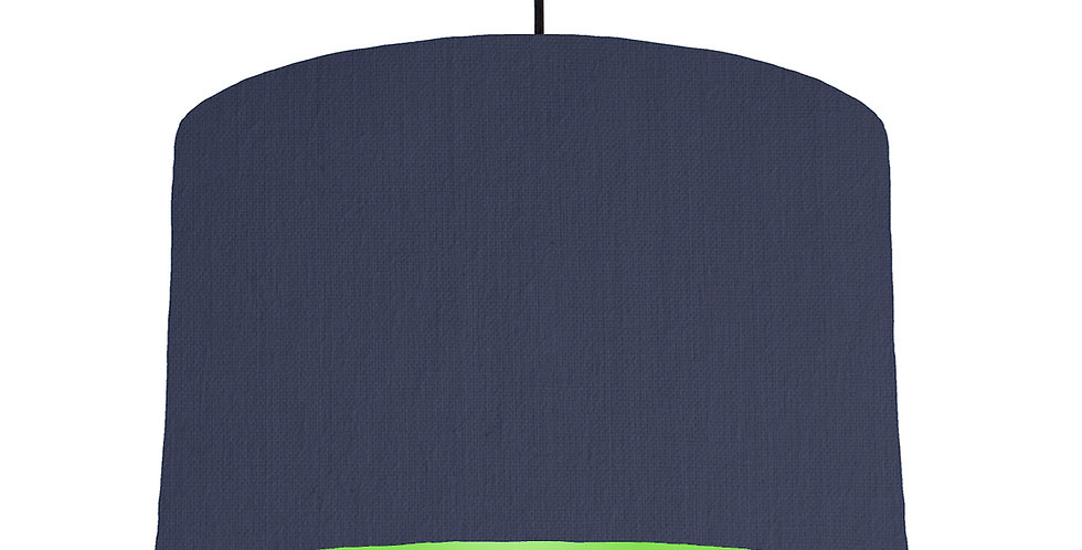 Navy Blue & Lime Green Lampshade - 40cm Wide
