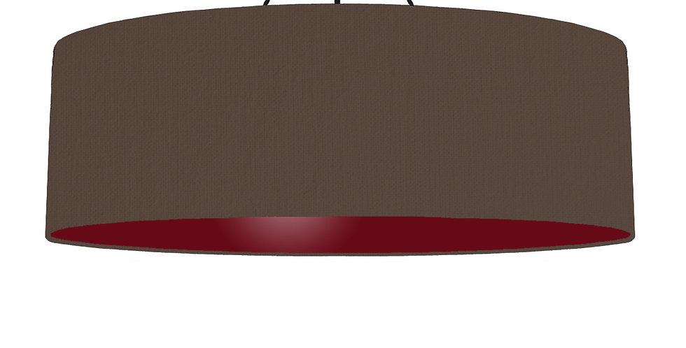 Brown & Burgundy Lampshade - 100cm Wide