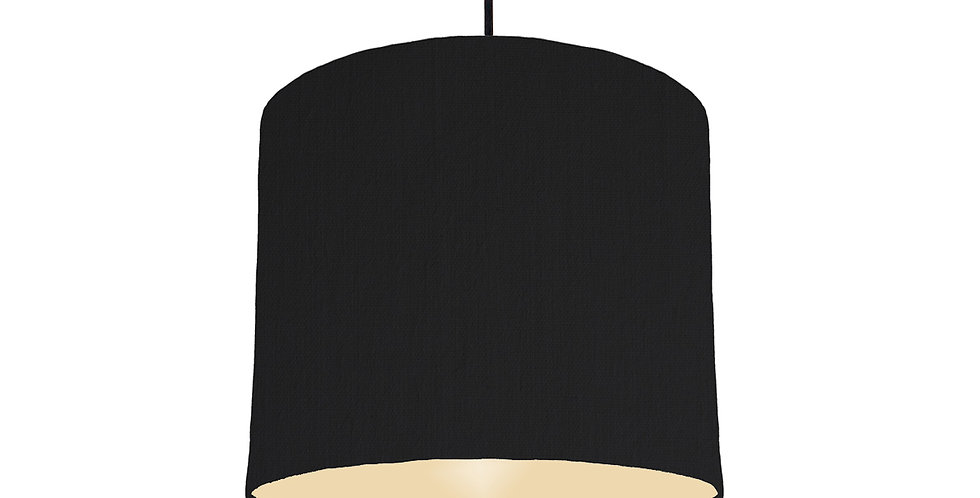 Black & Ivory Lampshade - 25cm Wide