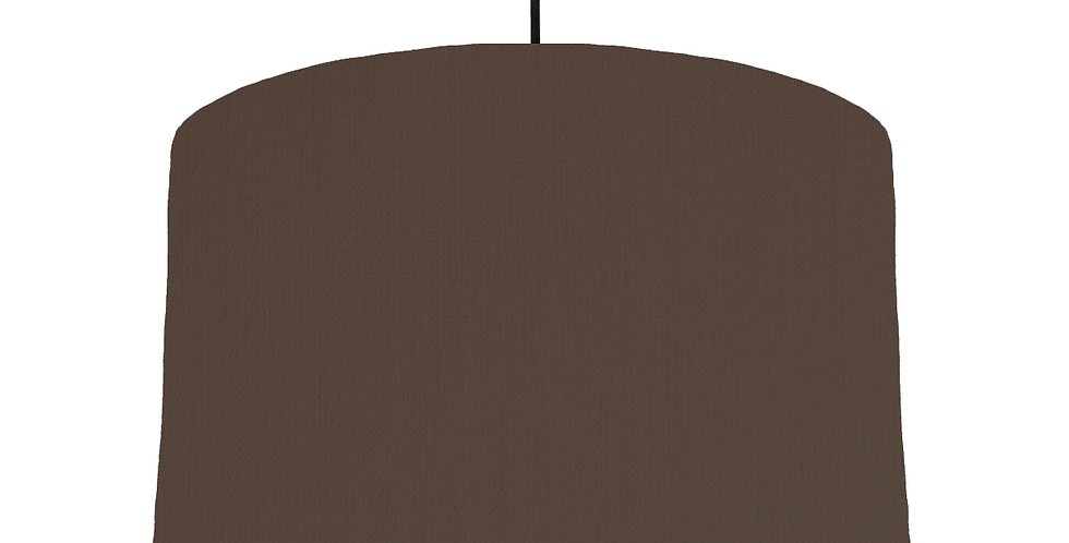 Brown & White Lampshade - 40cm Wide
