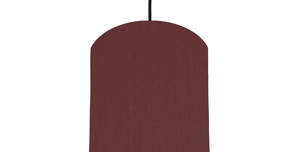 Wine Red & Wood Lined Lampshade - 20cm Wide