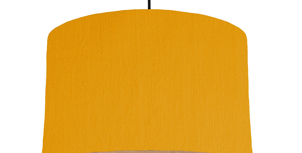 Mustard & Wooden Lined Lampshade - 40cm Wide