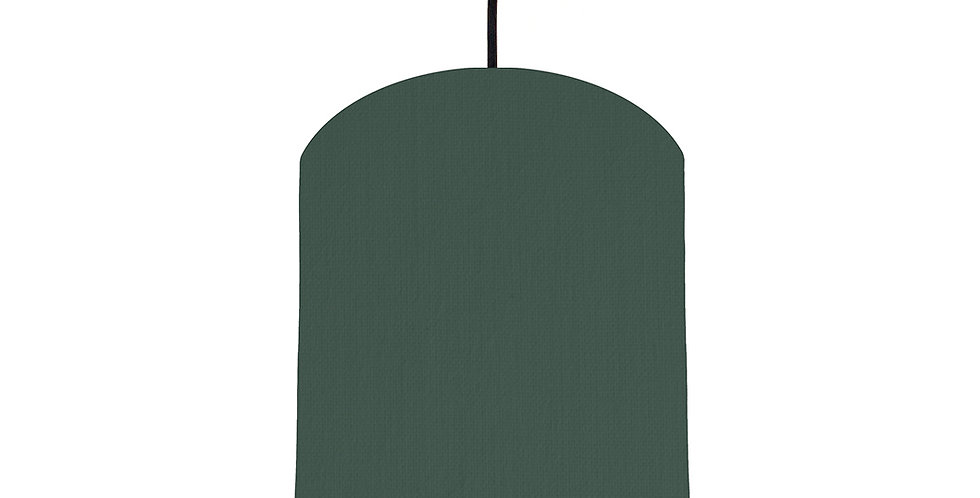 Bottle Green & Bright Blue Lampshade - 20cm Wide