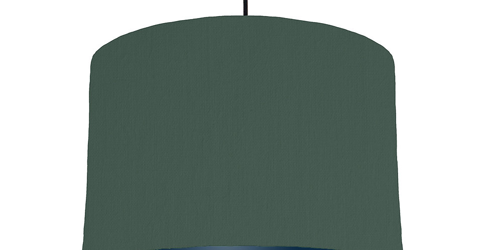 Bottle Green & Navy Lampshade - 30cm Wide