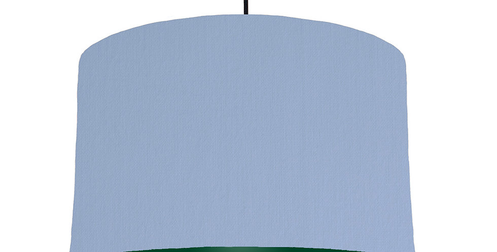 Sky Blue & Forest Green Lampshade - 40cm Wide