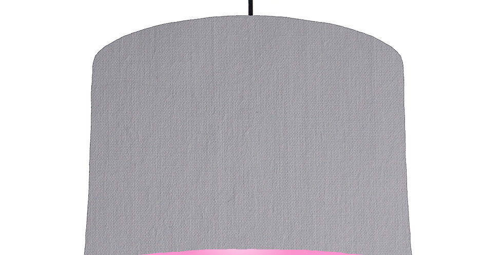 Light Grey & Pink Lampshade - 30cm Wide