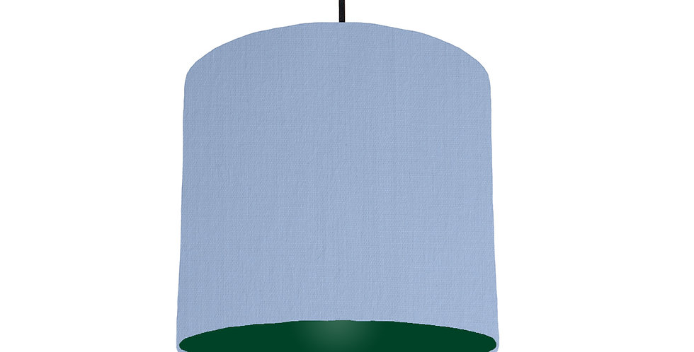 Sky Blue & Forest Green Lampshade - 25cm Wide