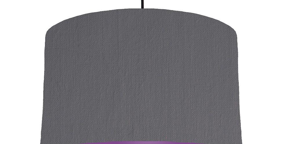 Dark Grey & Purple Lampshade - 40cm Wide