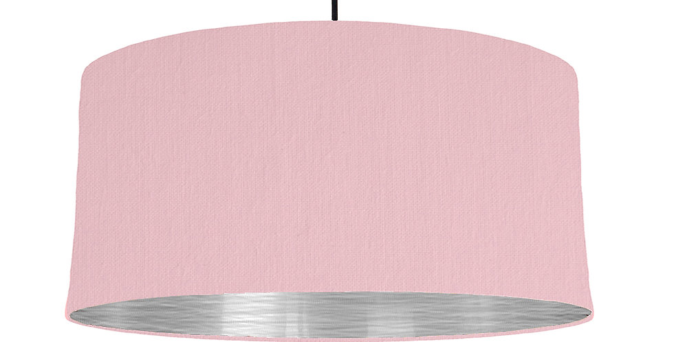 Pink & Brushed Silver Lampshade - 60cm Wide