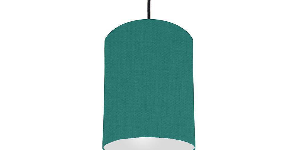 Jade & Light Grey Lampshade - 15cm Wide