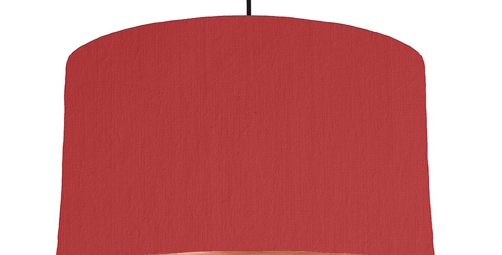 Red & Brushed Copper Lampshade - 50cm Wide