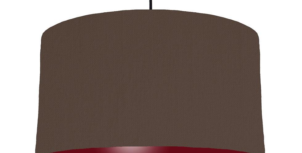 Brown & Burgundy Lampshade - 50cm Wide