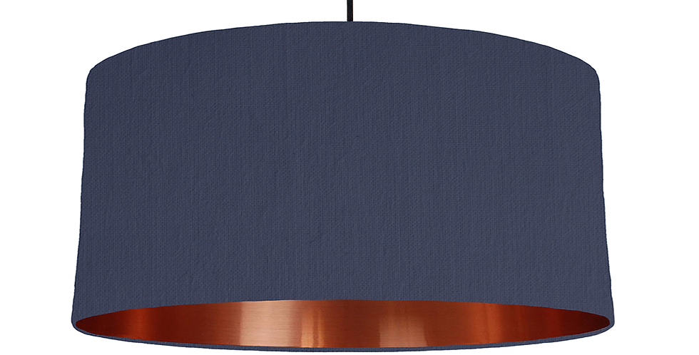 Navy & Copper Mirrored Lampshade - 60cm Wide