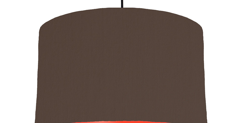Brown & Poppy Red Lampshade - 40cm Wide