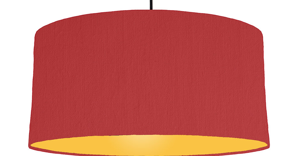 Red & Butter Yellow Lampshade - 60cm Wide