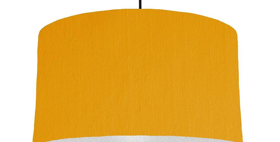 Mustard & Silver Matt Lampshade - 50cm Wide