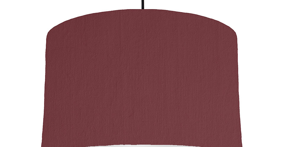 Wine Red & Light Grey Lampshade - 40cm Wide