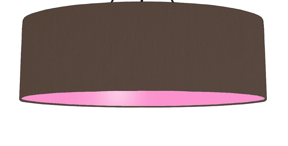 Brown & Pink Lampshade - 100cm Wide