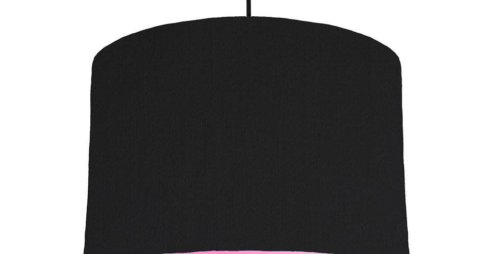 Black & Pink Lampshade - 30cm Wide