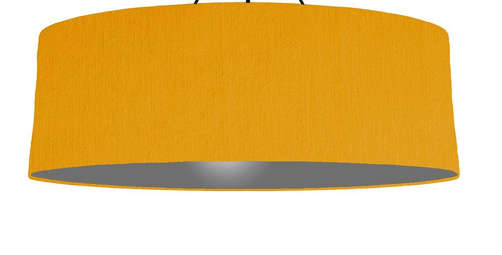 Mustard & Dark Grey Lampshade - 100cm Wide