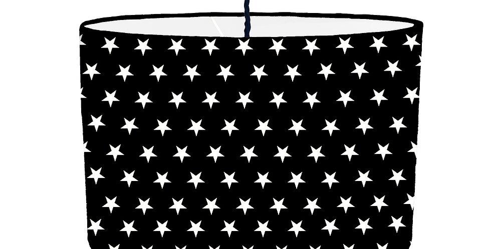 Black Star Lampshade - White Lining