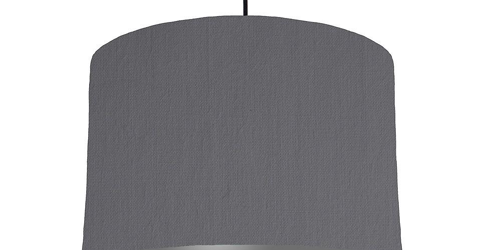 Dark Grey & Dark Grey Lampshade - 30cm Wide