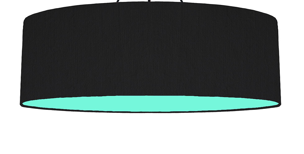 Black & Mint Lampshade - 100cm Wide