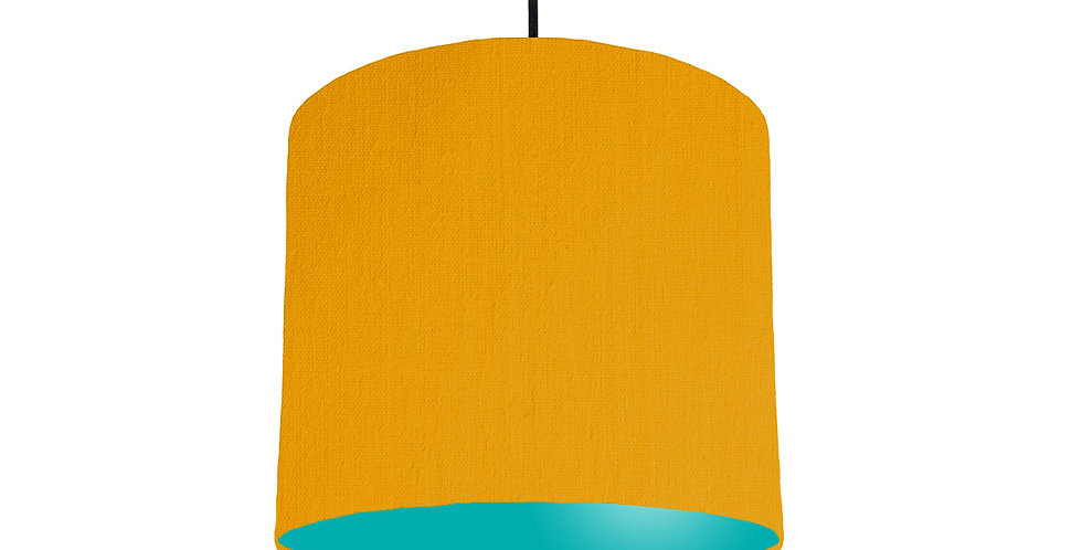 Mustard & Turquoise Lampshade - 25cm Wide