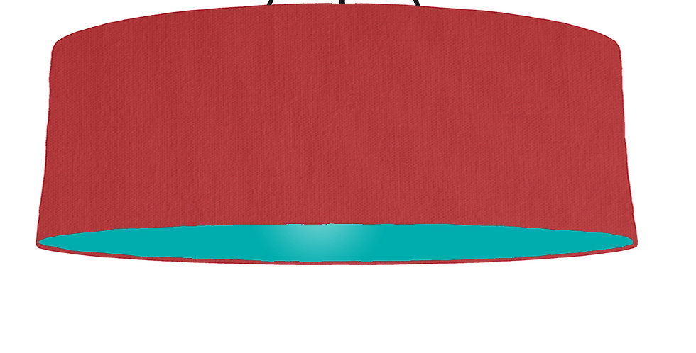 Red & Turquoise Lampshade - 100cm Wide