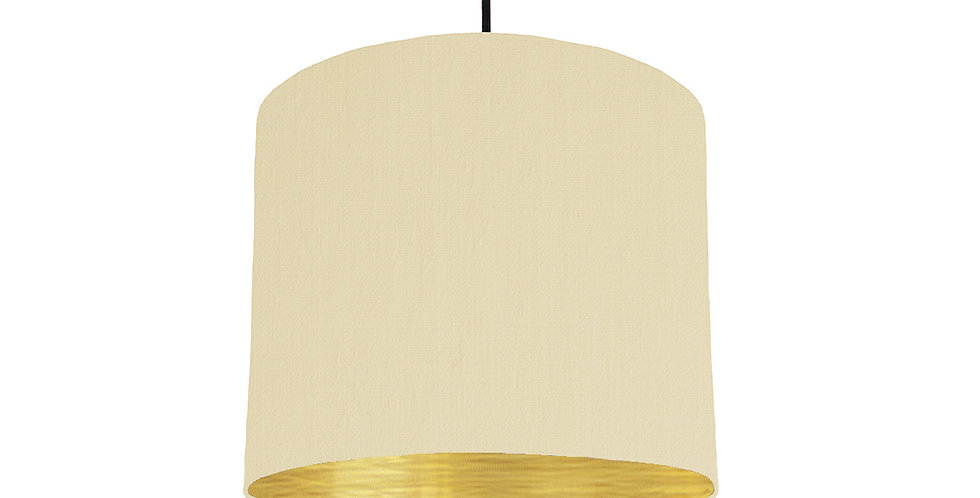 Natural & Brushed Gold Lampshade - 25cm Wide