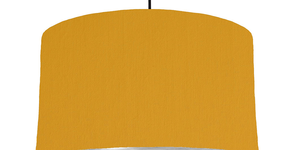 Mustard & Brushed Silver Lampshade - 50cm Wide